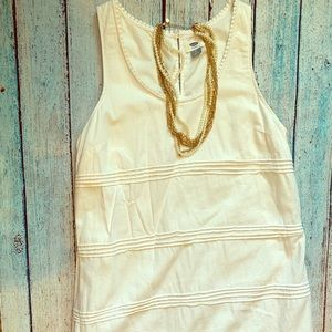 Old Navy white linen tank dress